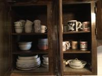 Corelle Plates , cups, Contents of three shelves