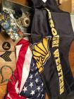 Missouri Western flags, American flags