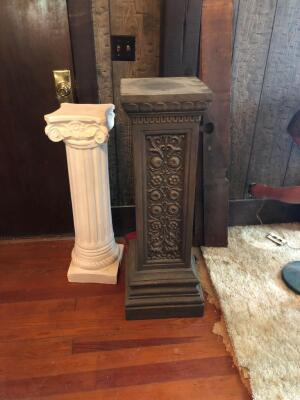 Two pedestals. 36 inch and 42 inch