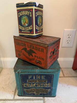 Miscellaneous old tins