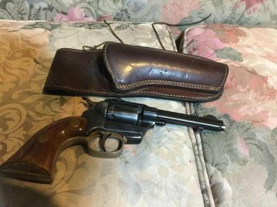 High Standard W105 .22 revolver and holster.