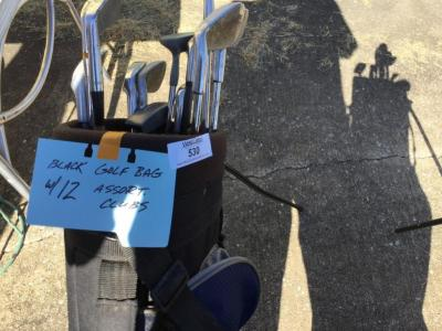 Black bag with clubs