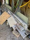 Assortment of lumber and galvanized metal