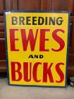 Breeding Ewes and Bucks sign
