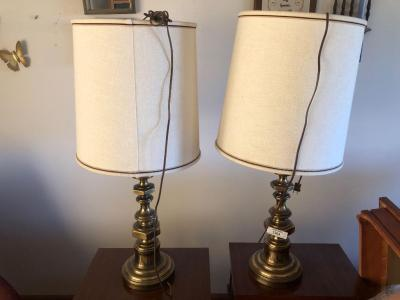 Pair of lamps with shades