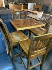 Football memorabilia high top table and 4 chairs