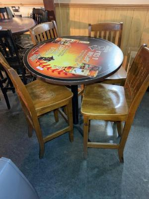 Captain Morgan high top table and 4 chairs