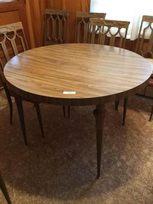 42 inch round table and 6 chairs