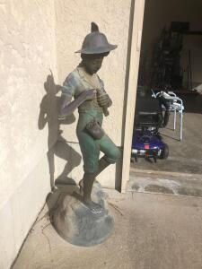 "A girl with the fish. Bronze 58""."