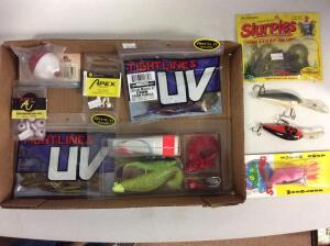 Misc. Rubber Baits, jig heads, Lures, & Fishing Tackle