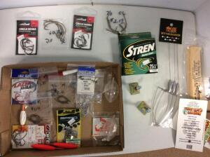 Misc. Hooks, Stren Fishing Line, & fishing tackle