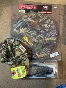 Jerry McPhersons Montana Decoy Carrier, Advanish camo Hunting Blind, & ElimiTick hat