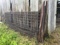 Steel fence post and panels. 6 1/2 foot