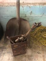 Old Wrenches and shovel