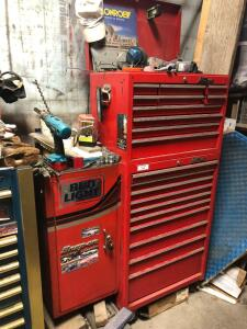 Red toolbox. No contents