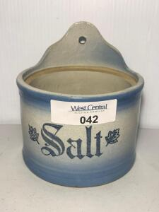 Blue & White hanging salt crock