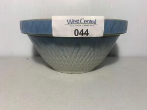 Robinson Ransbottom Blue & White Stoneware Crock bowl