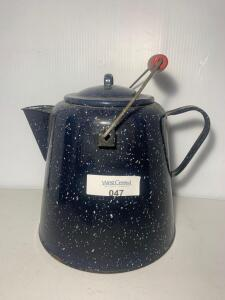 Enamel Coffee Pot Speckled Cowboy Kettle
