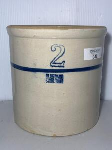 Blue Band Stoneware Crock