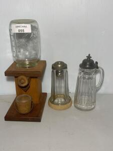 Canning Jar Peanut Dispenser, Glass Condiment Dispensers