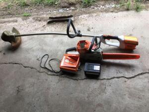 Stihl MSA 200C chainsaw, FSA85 trimmer. With AP 300 battery and charger.