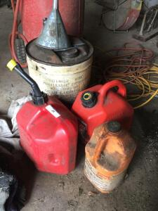 Fuel cans and funnel
