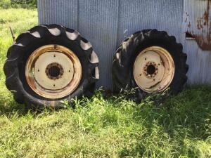 Rims for 14.9x26 tractor tires. Tires as shown. Qty 3