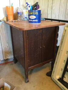 "Small vintage cabinet 24""x24""x30"". No contents. Slated to adjust shelves!"