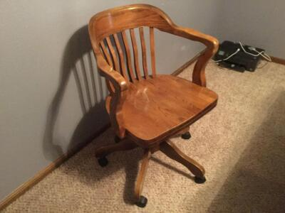 Solid Oak Office Chair