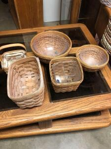 "Longaberger 8"" baskets"