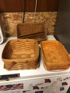 "Longaberger 10"" baskets"