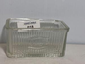 Antique Glass Salt Cellar Box