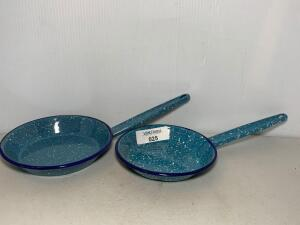 Blue Speckled Graniteware Skillets