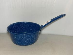 Blue Speckled Graniteware Sauce Pan