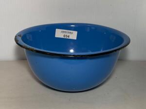Blue Graniteware Mixing Bowl
