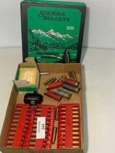 Sierra Bullets Reloading Book, Misc shells and brass