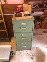 Filing cabinet and contents of top