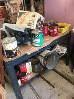 Work bench with contents
