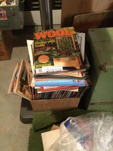 Box of woodworking magazines