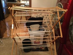 Drying racks, laundry baskets, waste baskets and miscellaneous