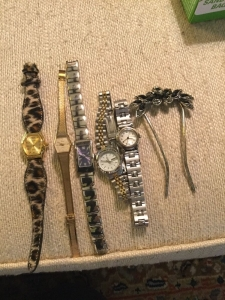 Watches and hair clip