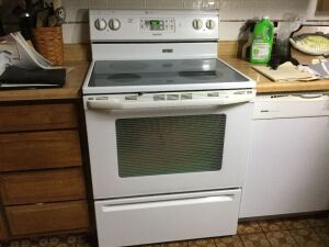 Maytag glass top range