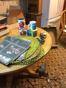 Placemats cups and miscellaneous