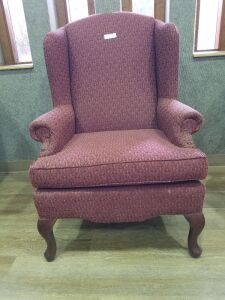 Burgundy Winged back Chair