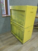 Two Deep Drawer File Cabinet/no top/ good for shop