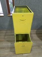 Two Deep Drawer File Cabinet/no top/ good for shop - 2
