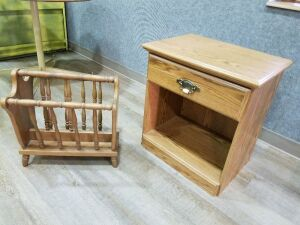 Night Stand and Magazine Rack