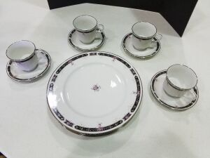 Royal Prestige Midnight Mood China 4 piece setset