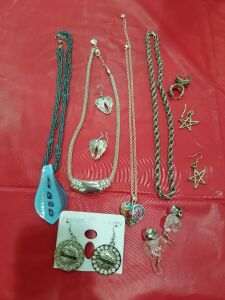 Assortment of Necklaces and Earrings #1