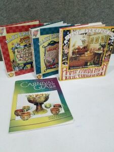 3 Mary Engelbreit Books and Carnival Glass Book
